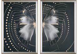 - İkili Kelebek Set Tablo 95x130cm