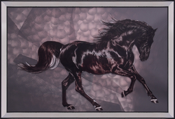- Hologramlı At Tablo 65x95cm