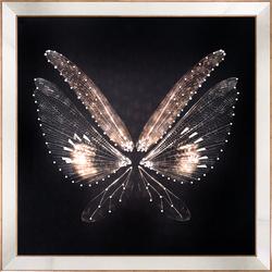 - Gold Kelebek Tablo 87x87cm