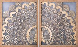 - Varaklı İkili Tavus Kuşu Tablo 75x100cm