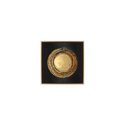 - Gold Varaklı Ay Tablo 82x82cm