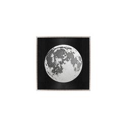 - Gümüş Varaklı Ay Tablo 82x82cm