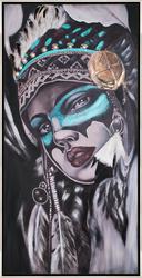 - Tüylü Kadın Tablo 60x120cm
