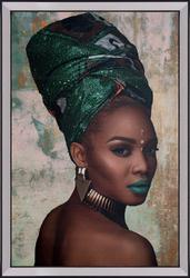 - Yeşil Sarıklı Kadın Tablo 70x100cm