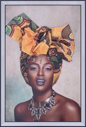 - Sarı Sarıklı Kadın Tablo 70x100cm