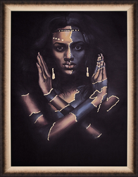 - Afrikalı Kadın Tablo 85x110cm