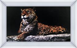 - Siyah Zemin ve Kaplan Tablo 40x60cm