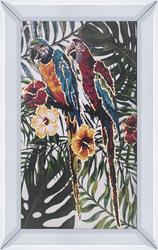 Renkli Papağanlar Tablo 40x60cm - Thumbnail