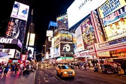 - Times Meydanı Renkli Işıklarla Kanvas Tablo