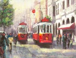 - Tramvay Kabartmalı Tablo