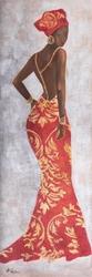 - Turuncu Elbiseli Afrikalı Kadın Kabartmalı Tablo