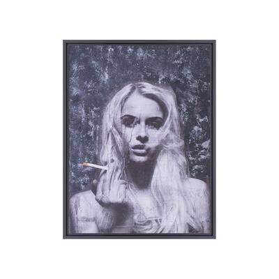 Sigara İçen Kadın Yağlıboya Tablo