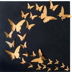 - Kelebekler Kabartmalı Tablo 90x90cm
