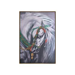 - Beyaz At Yağlıboya Tablo 104x154cm