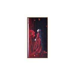 - Kırmızılı Kadın Yağlıboya Tablo