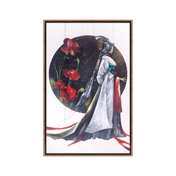 - Beyaz Kimonolu Yağlıboya Tablo