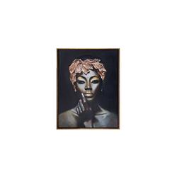 - Altın Yapraklı Kadın Yağlıboya Tablo