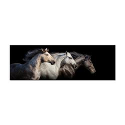 - Üç At Yanyana Kanvas Tablo