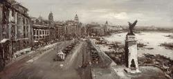- Üstten Görünüm Şehir Siyah Beyaz Kabartmalı Tablo