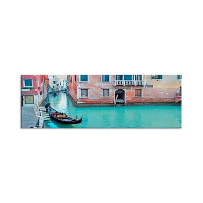 Venedik'te Kanal Kanvas Tablo