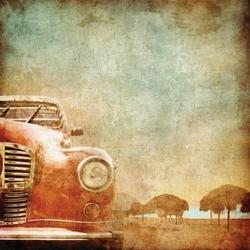 - Vintage Araba Kanvas Tablo