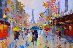 - Yağmurlu Paris Kanvas Tablo