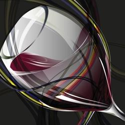 - Yakından Şarap Kadehi Kanvas Tablo