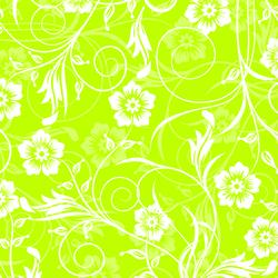 - Yeşil Beyaz Çiçekler Kanvas Tablo