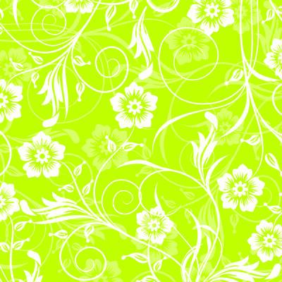 Yeşil Beyaz Çiçekler Kanvas Tablo