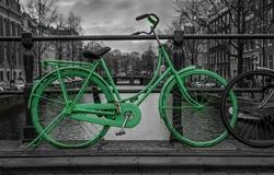 - Yeşil Bisiklet Kanvas Tablo