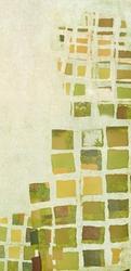 - Yeşil Kareler Kanvas Tablo