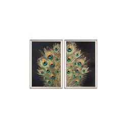 - Yeşil Tavus Kuşu İkili Set Tablo 95x130cm