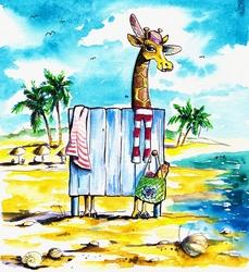 - Zürafa Kanvas Tablo
